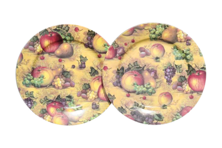 Country Fruit 2pc Sideplate Set